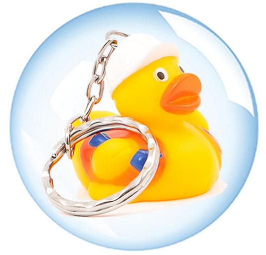 4cm Sleutelhanger Worker Duck Werkman Badeend Promo Eend